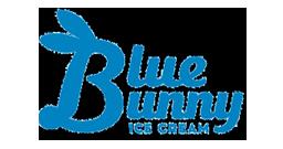 2 blue bunny